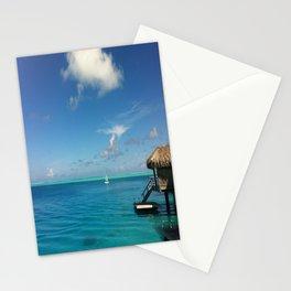 Bora Bora Hilton NUI Bungalow View Stationery Cards