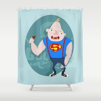 the goonies Shower Curtains featuring Sloth by Paula Benítez