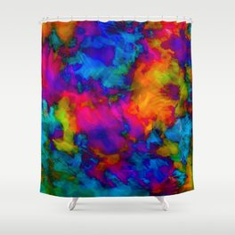 Vibrant Abstract Color Explosion  Shower Curtain