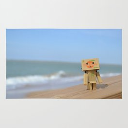 Danbo on the beach Rug