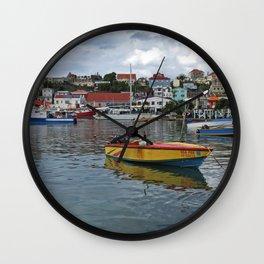 Grenada Carenage Harbor  Wall Clock