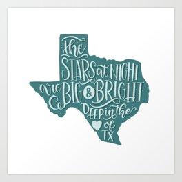 Heart of Texas Art Print