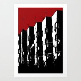 Dark Buildings in Belgrade Art Print