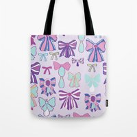 bows Tote Bags featuring Bows by Jessica Anecito