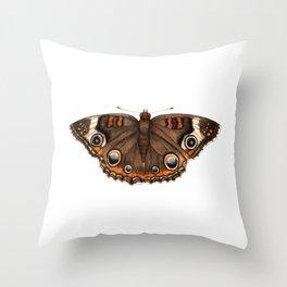 Common Buckeye (Junonia coenia) Throw Pillow