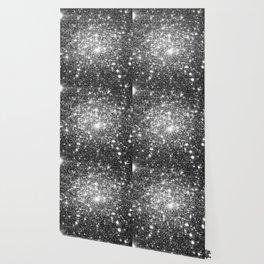 Black Slate Sparkle Stars Wallpaper