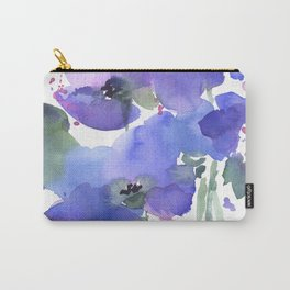Blue Poppies and Wildflowers Carry-All Pouch