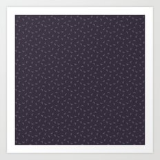 Purple field line pattern Art Print