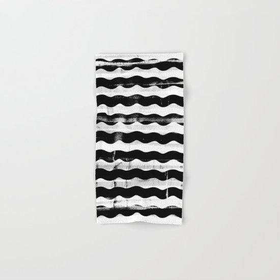 Black Waves Hand & Bath Towel