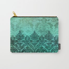 ABERDEEN HEIRLOOM, LACE & DAMASK: ARTISTIC AQUA Carry-All Pouch