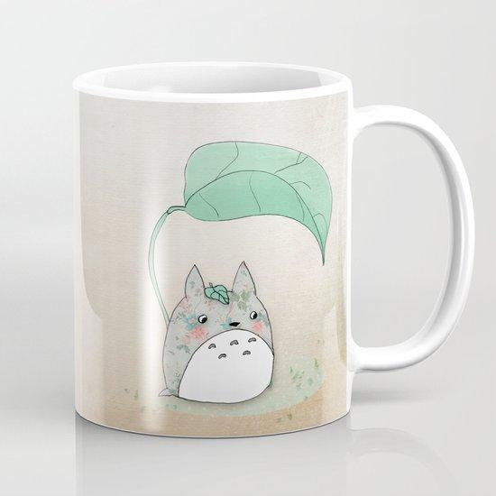 Floral Totoro Mug
