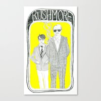 rushmore Canvas Prints featuring Rushmore by Mexican Zebra