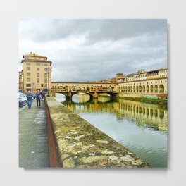 View to Ponte Vecchio Metal Print