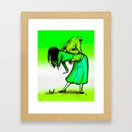 Stoopid Monkey Framed Art Print