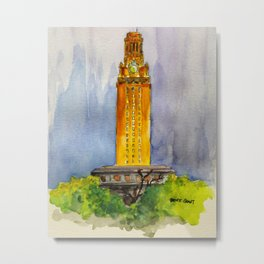 UT Tower - Shines to welcome new students to campus Metal Print