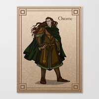 valar morghulis Canvas Prints featuring Orome by wolfanita