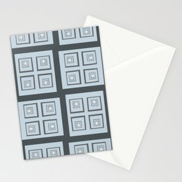 Abstracted Egress Pattern Stationery Cards