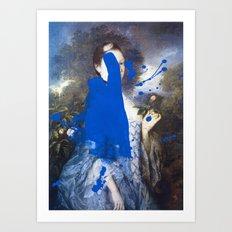 Blue Bomb Art Print
