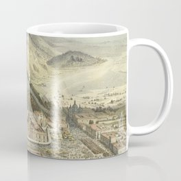 Vintage Pictorial Map of Guadaloupe Mexico (1869) Coffee Mug