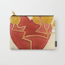 Art Nouveau Heart Carry-All Pouch