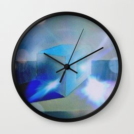 """The Magical Blue Square"" Wall Clock"