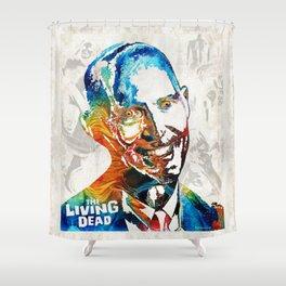 Zombie Art - The Living Dead - Halloween Fun Shower Curtain