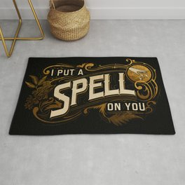 I put a spell on you - vintage letters Rug