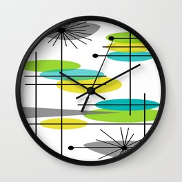 Mid-Century Modern Atomic Design Wall Clock