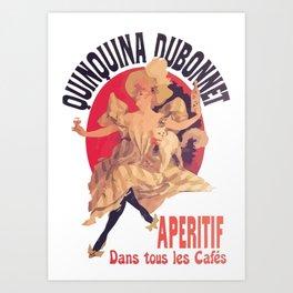 Quinquina Dubonnet Aperitif  Dans Tous Les Cafes Art Print