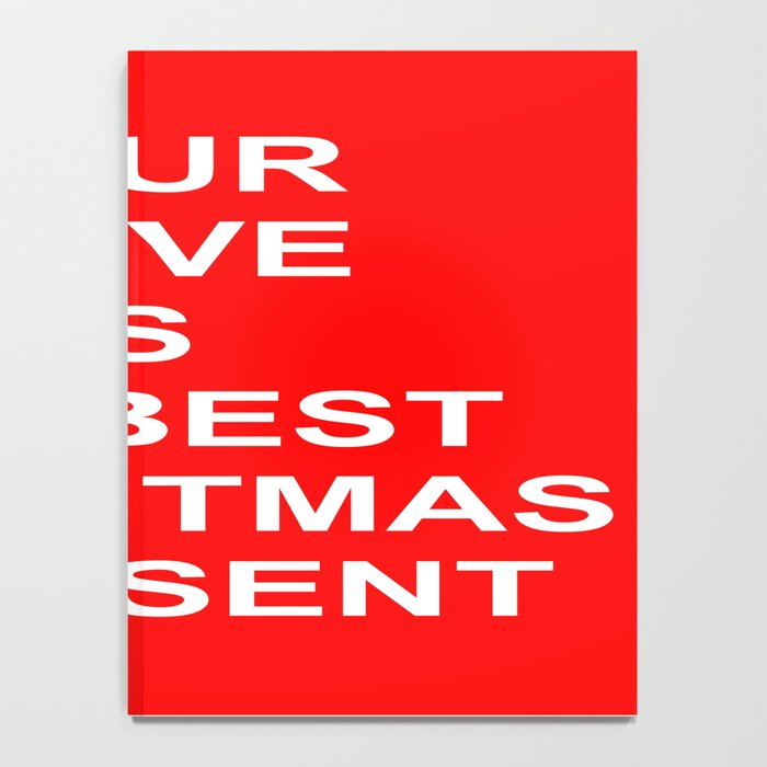 Christmas Red Notebook