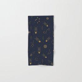 Golden Fireflies Constellations Hand & Bath Towel