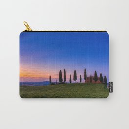 Cypress trees and meadow with typical tuscan house Carry-All Pouch