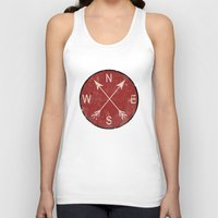 compass Tank Tops featuring Compass by Duke Dastardly