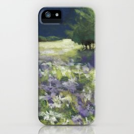 Fields of White and Purple iPhone Case