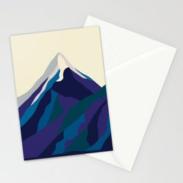 Mount Everest in Blue Stationery Cards