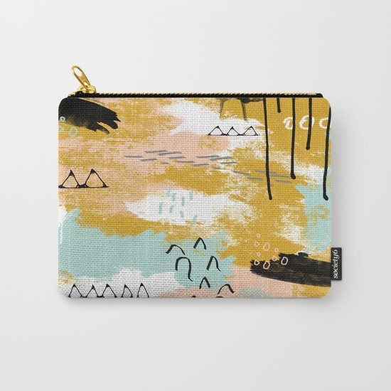 Presence of Life, Abstract Tribal Art Carry-All Pouch