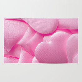 Pink hearts background Rug