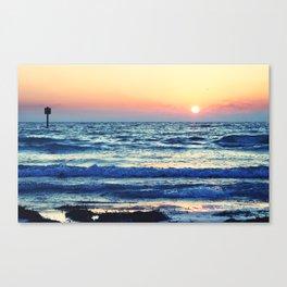 Sunset Beach. Photograph Canvas Print