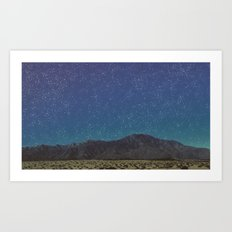 Palm Desert-Mountains and Stars Art Print