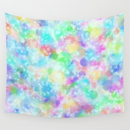 Rainbow Bubbles, Shining Stars and Color Magic Wall Tapestry