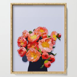 Peony Blooms Serving Tray