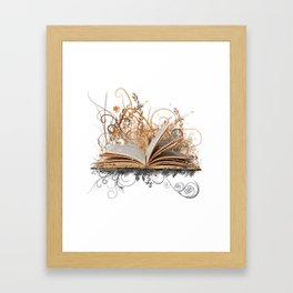 BLOOMING BOOK Framed Art Print