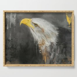 The Mighty Bald Eagle Serving Tray