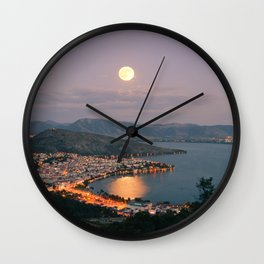 Kastoria Lake in Greece Wall Clock
