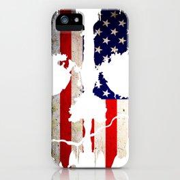 Skull American Flag Punisher iPhone Case