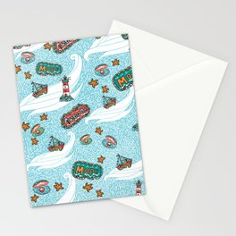 About the sea Stationery Cards