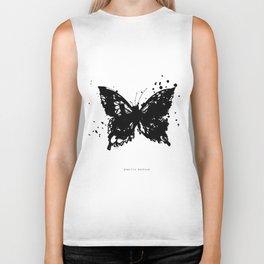 Grunge Butterfly Biker Tank
