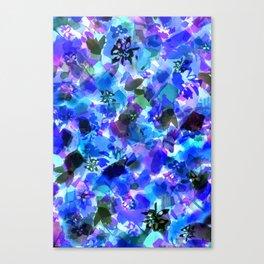 Blue Tulip Floral Canvas Print