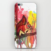 squirrel iPhone & iPod Skins featuring Squirrel by Halfmoon Industries
