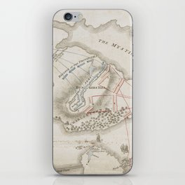 Vintage Battle of Bunker Hill Map (1775) iPhone Skin
